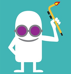 Animated personality welder vector