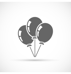 Baloons icon isolated vector