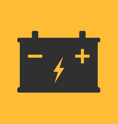 battery flat icon on background vector image