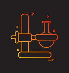 beaker experiment flask icon design vector image