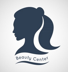 Beauty Center Logo Design Template vector image