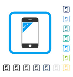 best telephone framed icon vector image