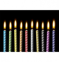 birthday candle vector image