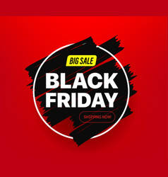 black friday big sale banner vector image