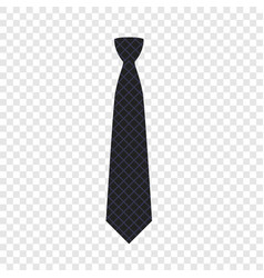 Black tie icon flat style vector