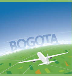 Bogota flight destination vector