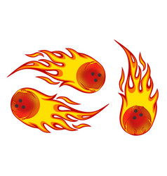 bowling ball on fire vector image