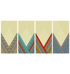 Bright ethnic vertical frames set vector