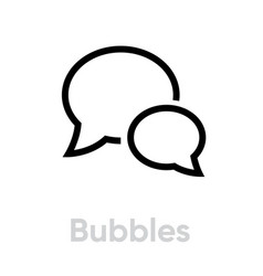 Bubbles chat message icon editable line vector
