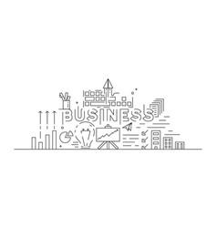 business concept theme line art design vector image