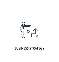 business strategy concept line icon simple vector image