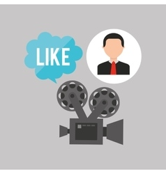 Businessman movie film like icons vector