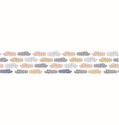 Cactus spiny texture abstract seamless border vector