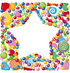 Candy star vector