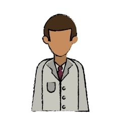 Cartoon character doctor uniform health vector