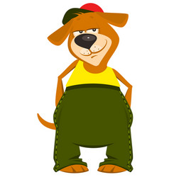 Cartoon dog boy in clothes vector
