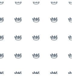 chicken leg icon pattern seamless white background vector image