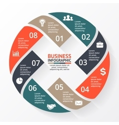 Circle arrows X infographic diagram graph vector