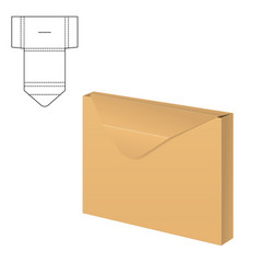 clear carton box vector image