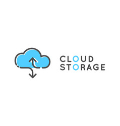 cloud storage logotype data share logo vector image