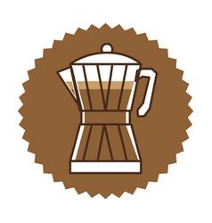 coffee moka pot icon vector image