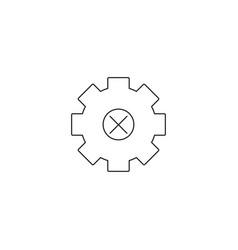 cogwheel gear icons delete sign symbols vector image