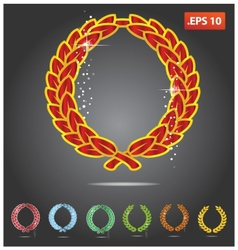 colored heraldry symbols vector image