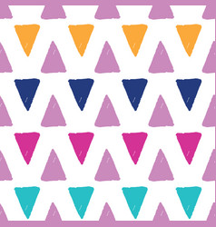 Colorful grunge triangles repeat pattern vector