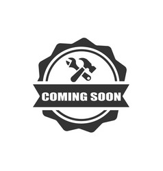 Construction badge icon vector
