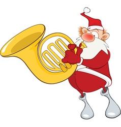Cute santa claus sousaphone vector