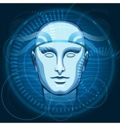 Cyber Head vector