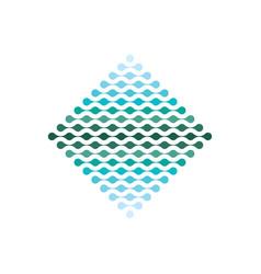 digital data tech electronic logo icon vector image