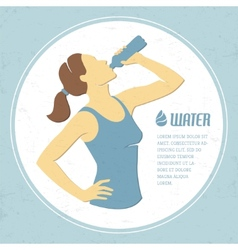 Drinking water 1 vector image