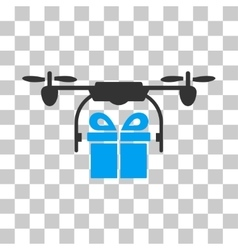 Drone Gift Delivery Icon vector