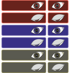 eyes with icons vector image