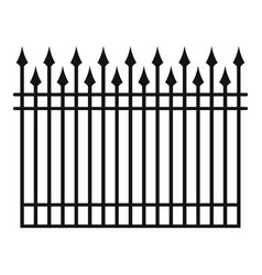 Fence with metal rod icon simple style vector
