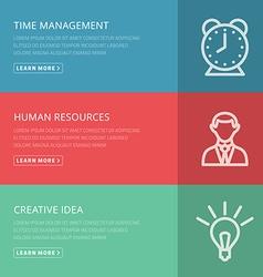 Flat design concept for management HR creative vector