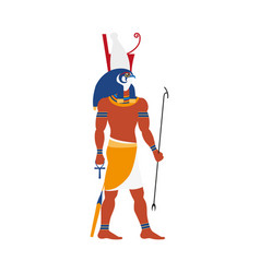 Flat horus egypt god icon vector