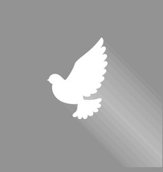 flying dove vector image