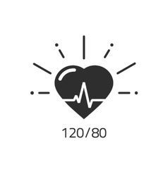 Good health icon blood pressure numbers vector image