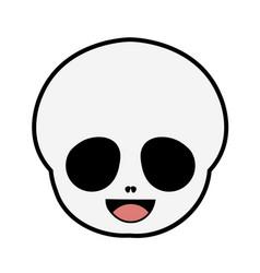 halloween- mexican sugar skull- dia de los muertos vector image