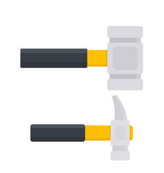 Hammer and sledgehammer in flat style vector