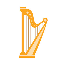 harp part of musical instruments set of realistic vector image