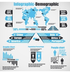 INFOGRAPHIC DEMOGRAPHIC NEW STYLE 10 HEAVENLY vector image