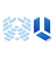 isometric set of icon like icon follower icon vector image