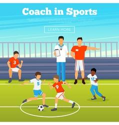 Kids Sport Poster vector