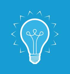 light bulb symbol electricity innovation idea vector image