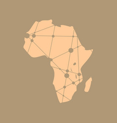 Low poly map of africa vector