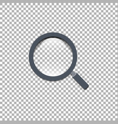 magnifying glass eps 10 isoiated background vector image