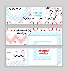 Mempis banner set color vector